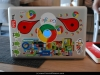 Googlers have the funkiest laptop covers - this is Maha\'s pimped-up machine
