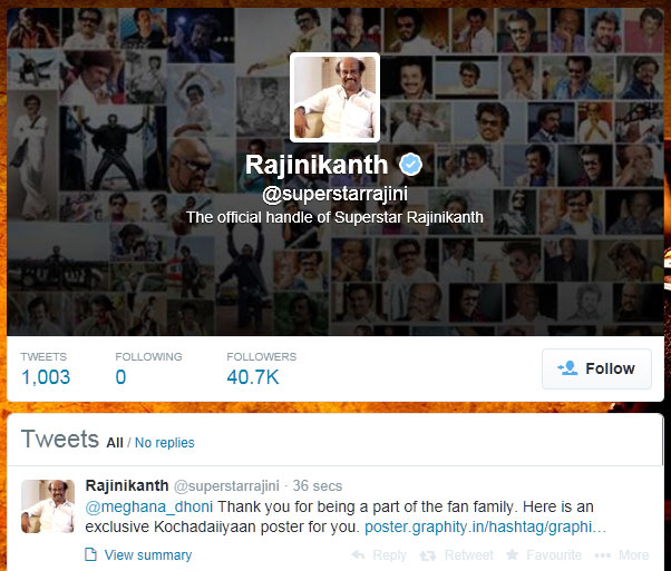 RajiniKanth-on-Twitter-1000-Tweets
