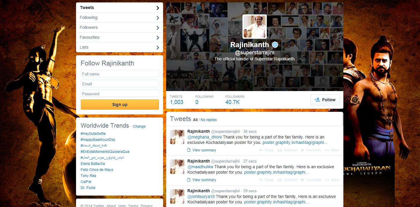Rajinikanth-Twitter-Profile