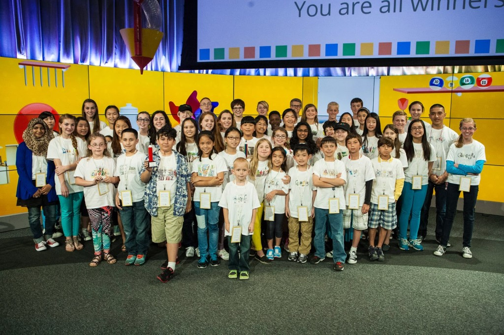 Google 4 Doodle 2014  state winners group photo